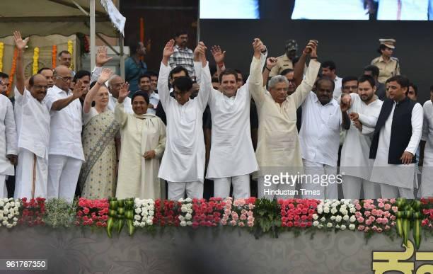 Chief Sharad Pawar UPA Chairperson Sonia Gandhi BSP Chief Mayawati Ajit Singh Congress President Rahul Gandhi CPI leader Sitaram Yechury RJD leader...