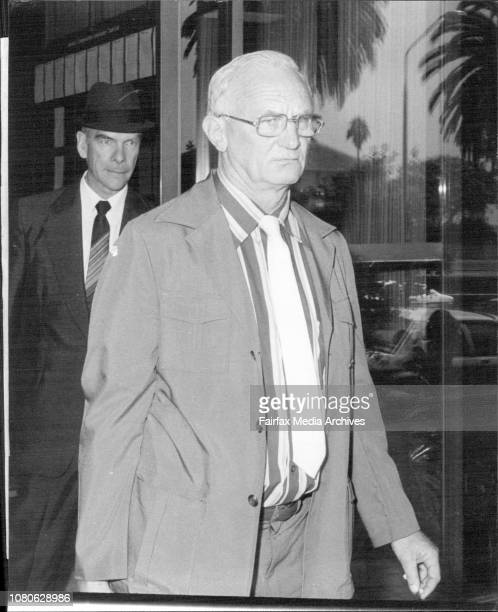 Chief Supt Ralph Masters leaves the Tribunal March 1 1981