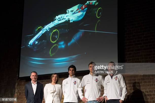 Chief technical officer Paddy Lowe deputy team principal Claire Williams Canadian racing driver Lance Stroll Russian racing driver Sergey Sirotkin...