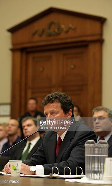 BP chief Tony Hayward appears before a House Oversight and Investigations Subcommittee hearing on 'The Role Of BP In The Deepwater Horizon Explosion...
