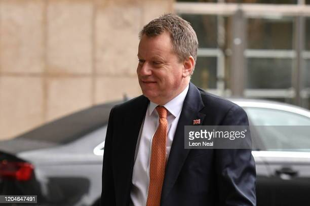 UK chief trade negotiator David Frost arrives at the European Commission on March 2 2020 in Brussels Belgium The UK chief negotiator met his EU...