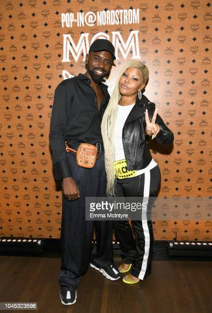 Chief Ugo Mozie II and Misa Hylton attend PopIn@Nordstrom MCM at Chateau Marmont on October 3 2018 in Los Angeles California