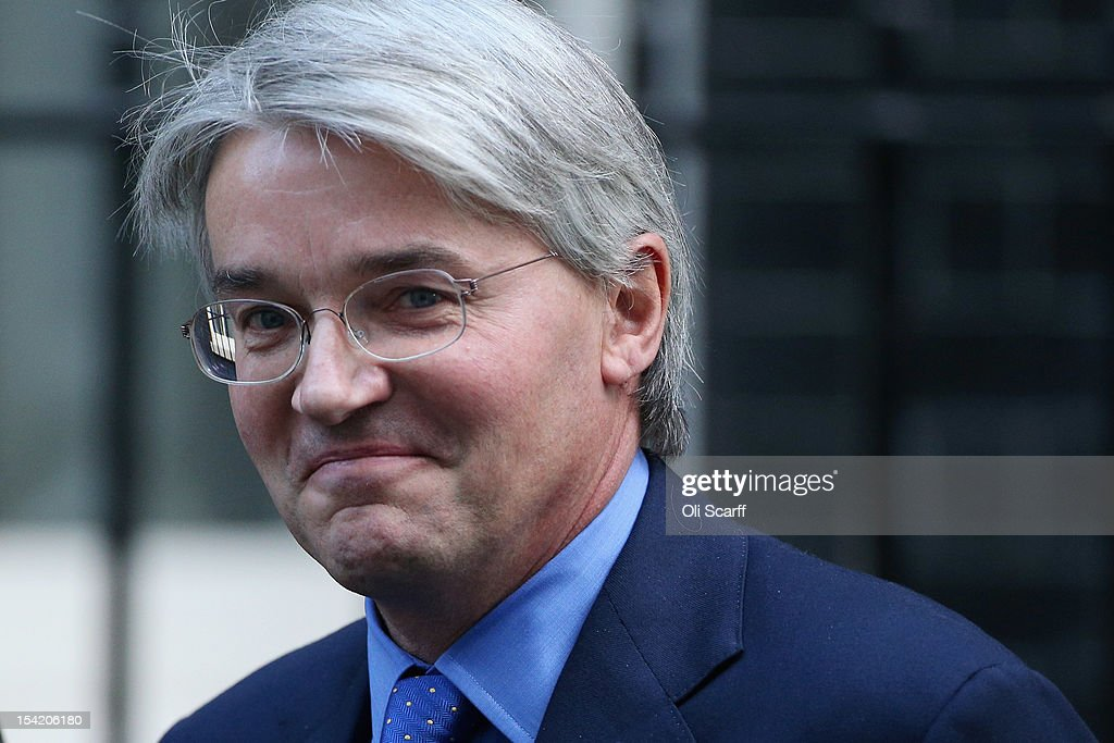 Chief Whip Andrew Mitchell leaves Number 10 Downing Street after attending the weekly Cabinet meeting on October 16, 2012 in London, England.