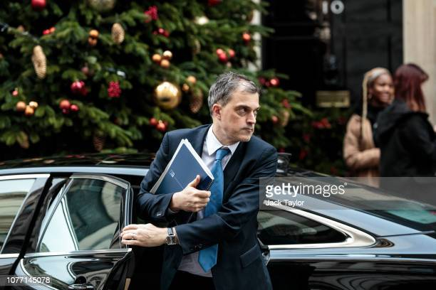 Chief Whip Julian Smith arrives at 10 Downing Street after Government Ministers attended a weekly cabinet meeting ahead of a meaningful vote debate...