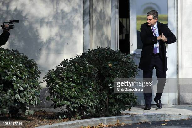 CNN chief White House correspondent Jim Acosta returns to the White House after Federal judge Timothy J Kelly ordered the White House to reinstate...