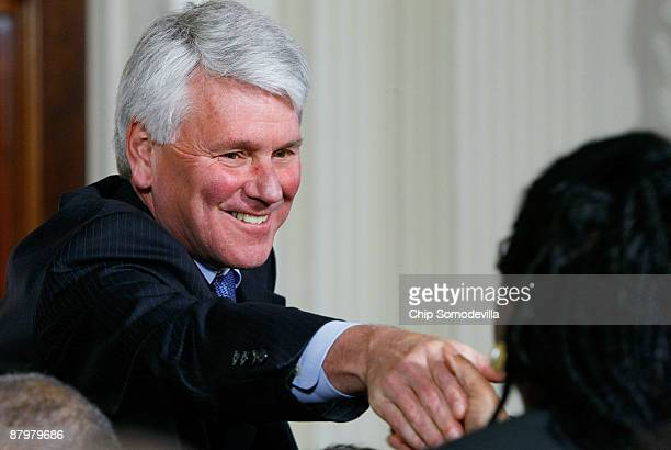Chief White House Counsel Greg Craig greets guests before US President Barack Obama announces federal Judge Sonia Sotomayor is his choice to replace...