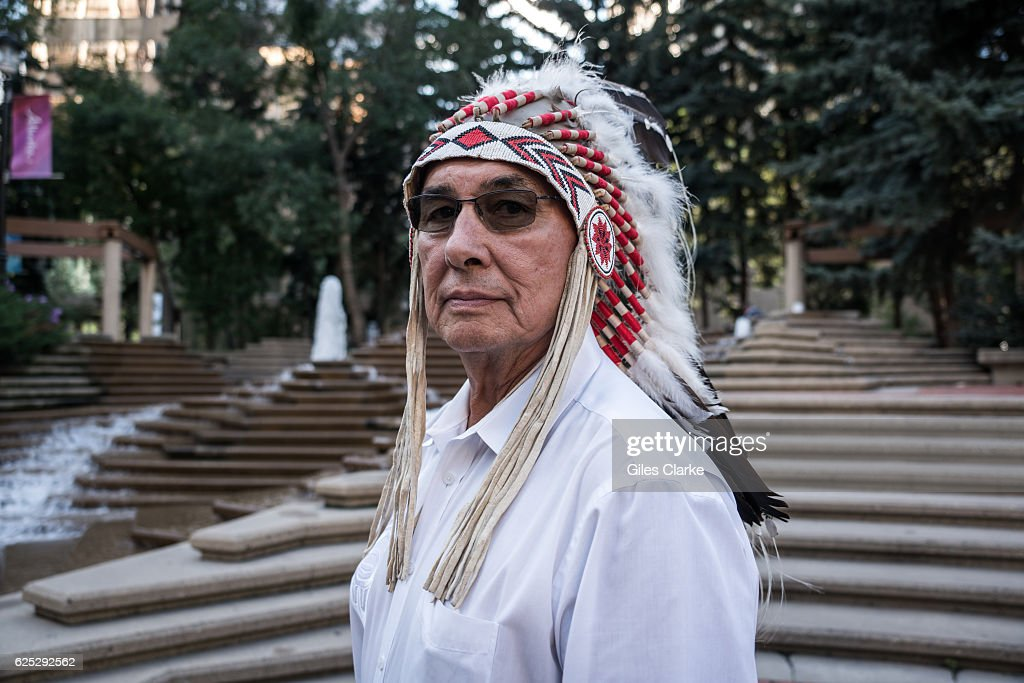 Portraits of First Nations Members in Calgary : News Photo