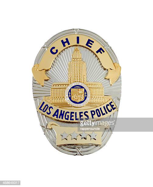 lapd chief's badge - police chief stock pictures, royalty-free photos & images
