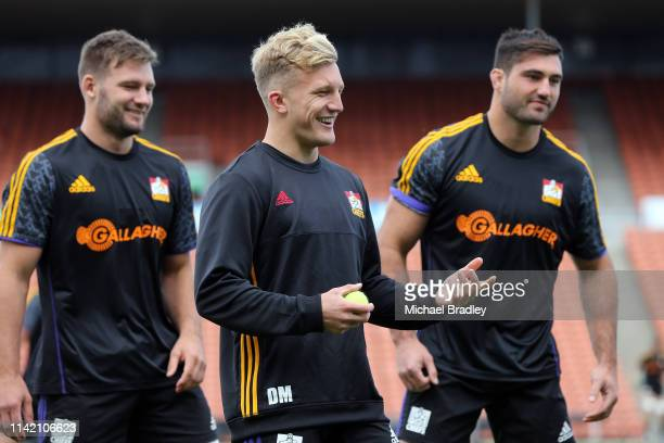 Chiefs Damian McKenzie during the Chiefs Super Rugby training session at FMG Stadium on April 12 2019 in Hamilton New Zealand