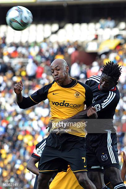 Chiefs Kaizer Motuang jnr and Destin Makita during the Absa Premiership match between Orlando Pirates and Kaizer Chiefs from Coca Cola Park on May 2...