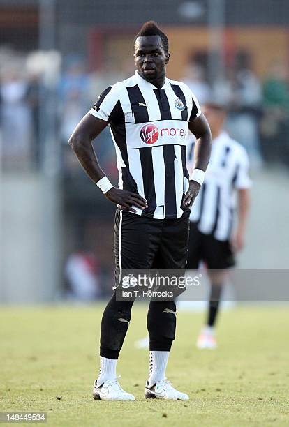 Chiek Tiote of Newcastle United during a pre season friendly match between Newcastle United and AS Monaco at the HackerPschorr Sports Park on July 16...