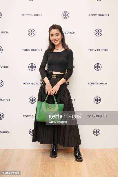 Chiemi Oguchi attends the Tory Burch Ginza Boutique Opening on April 02 2019 in Tokyo Japan
