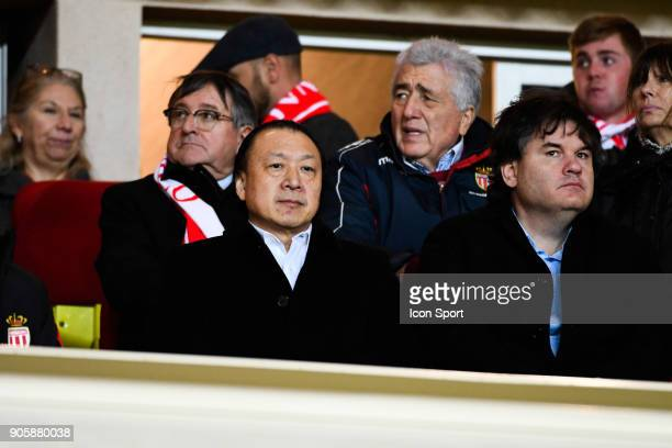 Chien Lee and Paul Conway coowner of Nice during the Ligue 1 match between AS Monaco and OGC Nice at Stade Louis II on January 16 2018 in Monaco