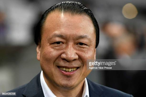 Chien Lee co owner of Nice during the Europa League match between OGC Nice and Lazio Roma at Allianz Riviera on October 19 2017 in Nice France