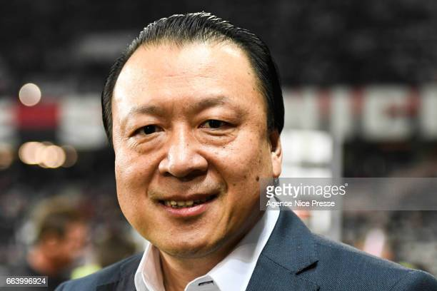 Chien Lee coowner of Nice during the French Ligue 1 match between Nice and Bordeaux at Allianz Rivera on April 2 2017 in Nice France