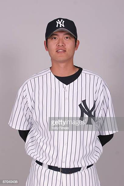 ChienMing Wang of the New York Yankees during photo day at Legends Field on February 24 2006 in Tampa Florida