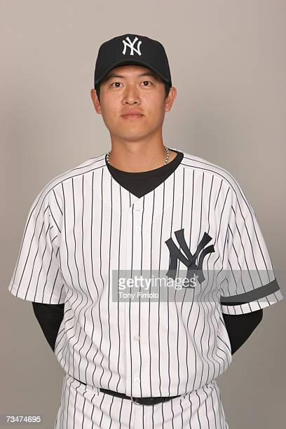 ChienMing Wang of the New York Yankees poses during photo day at Legends Field on February 23 2007 in Tampa Florida