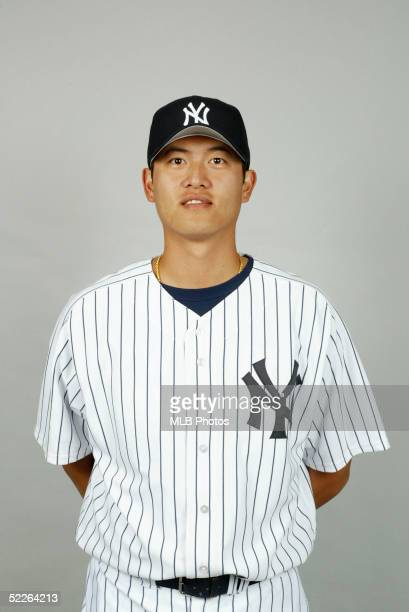 ChienMing Wang of the New York Yankees poses for a portrait during photo day at Legends Field on February 25 2005 in Tampa Florida