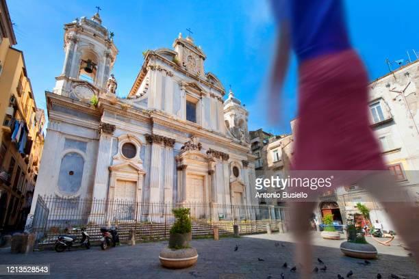 chiesa dei girolamini (girolamini curch), via tribunali - napoli stock pictures, royalty-free photos & images