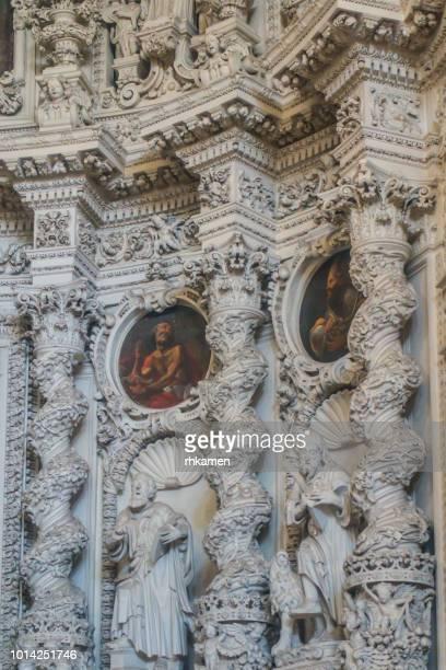 chiesa del gesu, del buon consiglio, lecce, salento, apulia, italy. - consiglio stock pictures, royalty-free photos & images