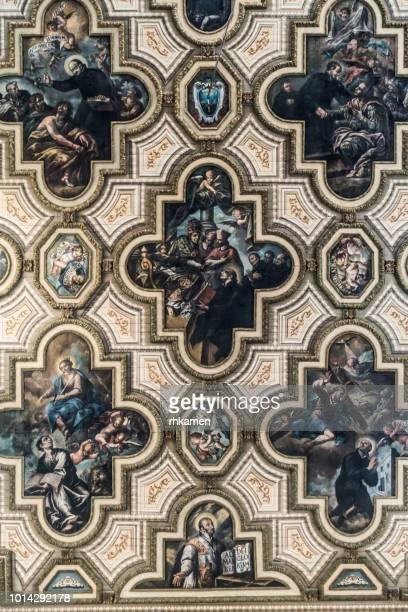 chiesa del gesu, del buon consiglio, lecce, salento, apulia, italy. - baroque stock pictures, royalty-free photos & images