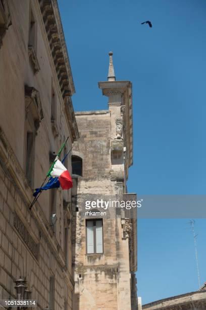 chiesa del gesu (church of the gesù or madonna del buon consiglio ). lecce, salento, apulia, italy. - consiglio stock pictures, royalty-free photos & images