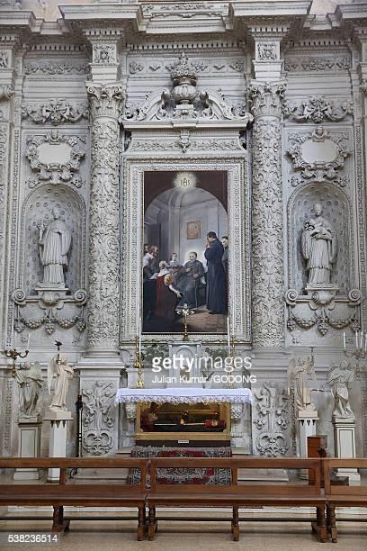 chiesa del gesu o del buon consiglio, lecce. - consiglio stock pictures, royalty-free photos & images