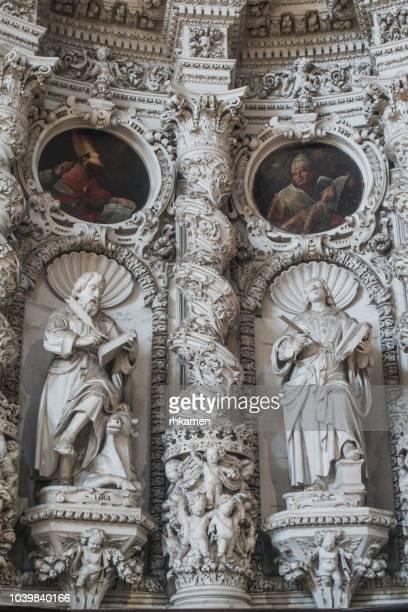 chiesa del gesu or del buon consiglio, lecce, salento, apulia, italy. - consiglio stock pictures, royalty-free photos & images