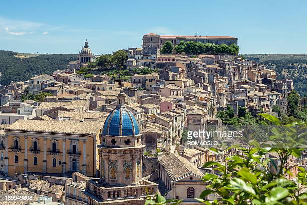 chiesa santa maria dell'ittrio and ragusa ibla- sicily italy - sicily stock pictures, royalty-free photos & images