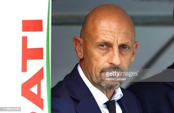 Chievo Verona coach Domenico Di Carlo looks on before the Serie A match between Chievo Verona and Parma Calcio at Stadio Marc'Antonio Bentegodi on...