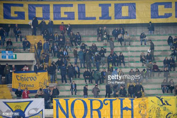 Chievo Verona fans shows their support during during the Serie A match between AC Chievo Verona and Spal at Stadio Marc'Antonio Bentegodi on November...