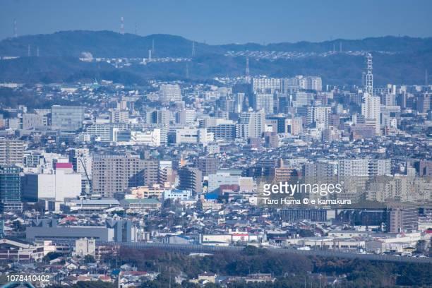 Chigasaki and Fujisawa cities in Kanagawa prefecture in Japan