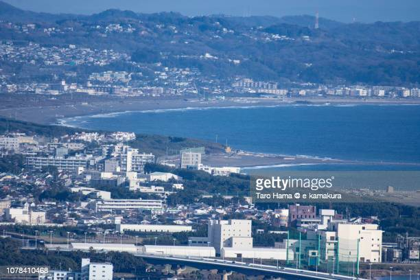 Chigasaki Harbor, Kugenuma Beach and Sagami Bay, Northern Pacific Ocean in Japan