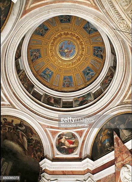 Chigi Chapel at Santa Maria del Popolo in Rome by Raffaello Sanzio Gian Lorenzo Bernini 1512 1520 16th Century polychrome marbles