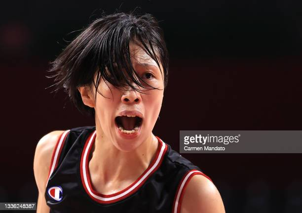 Chihiro Kitada of Team Japan reacts against Team Australia during the Women's Wheelchair Basketball Group A game on day 1 of the Tokyo 2020...