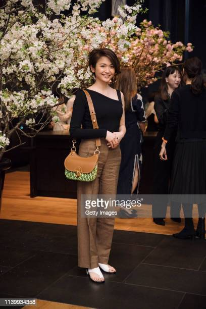 Chihiro Nakamoto attends the Tory Burch Ginza Boutique Opening After Party on April 02 2019 in Tokyo Japan