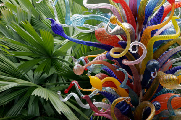 chihuly glass art at fairchild tropical botanic garden - Fairchild Tropical Botanic Garden