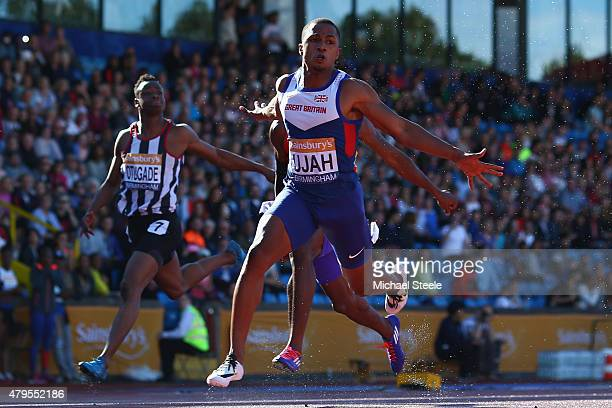 Chijindu Ujah of Enfield Haringey Harriers wins the Men's 100m Final during day three of the Sainsbury's British Championships at Birmingham...