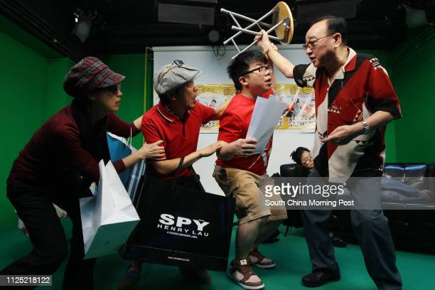 Chik Meichun Louie Castro Hanjin Tan and Lo Hoipang who are cast members of Shrimp Crazy Family stage show ǃˆv—v® reunion of the sitcom from...