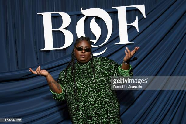 Chika attends the #BoF500 gala during Paris Fashion Week Spring/Summer 2020 at Hotel de Ville on September 30 2019 in Paris France