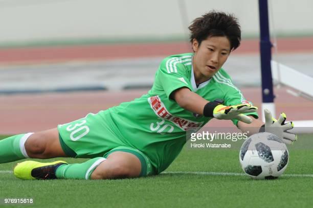 Chika Hirao of Albirex Niigata Ladies in action during the Nadeshiko Cup match between Urawa Red Diamonds Ladies and Albirex Niigata Ladies at Komaba...