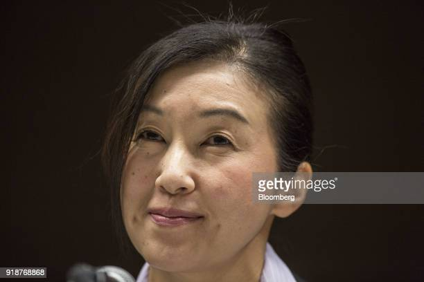 Chika Kako managing officer at Toyota Motor Corp and executive vice president at Lexus International Co attends a media round table in Nagoya Japan...