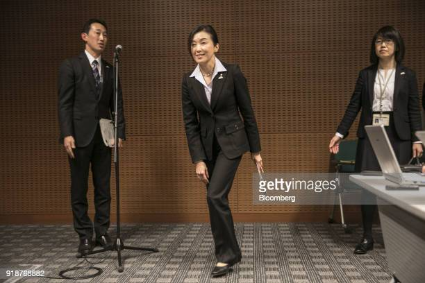 Chika Kako managing officer at Toyota Motor Corp and executive vice president at Lexus International Co center attends a media round table in Nagoya...