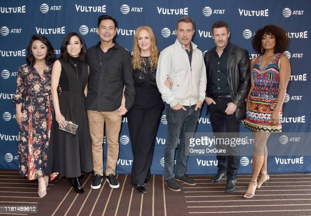 Chika Kanamoto Joel de la Fuente Chelah Horsdal Rufus Sewell Jason O'Mara and Frances Turner arrive at the Vulture Festival Los Angeles 2019 Day 2 at...