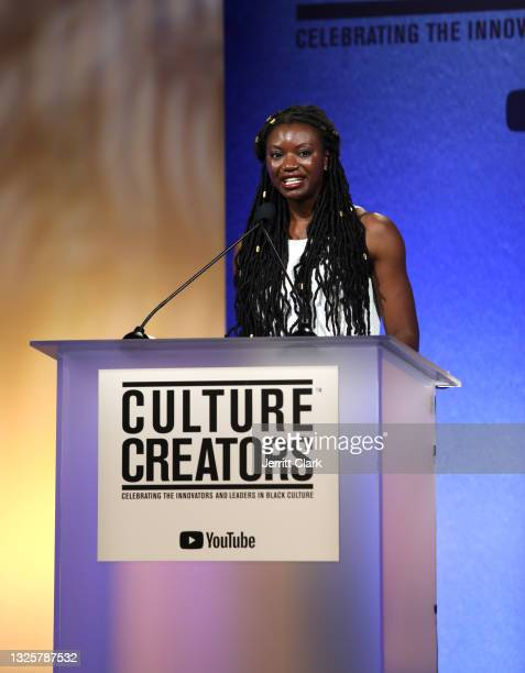 Chika Okoro presents at the Culture Creators Innovators & Leaders Awards at The Beverly Hilton on June 26, 2021 in Beverly Hills, California.