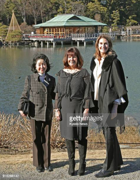 Chikako Aso the wife of Japanese Deputy Prime Minister Taro Aso Karen Pence the wife of US Vice President Mike Pence and Chrissy Hagerty the wife of...