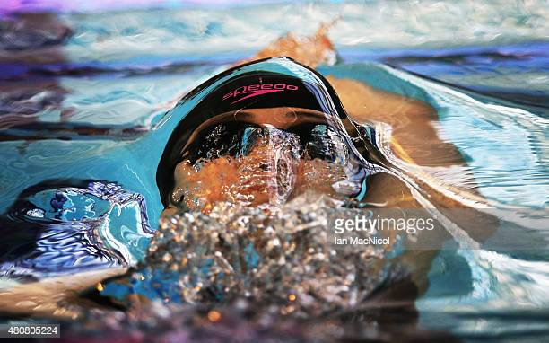Chikako Ono of Japan competes in the final of the Women's 100m Backstrokel during Day Three of The IPC Swimming World Championships at Tollcross...
