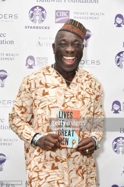 Chike Frankie Edozien attends Authors Night At East Hampton Library on August 11 2018 in East Hampton New York