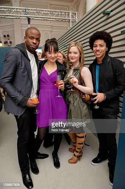 Chike Okonkwo Susannah Fielding Holliday Grainger and Luke Bailey attend Vanity Fair rocks at the Corinthia Hotel London on March 8 2011 in London...