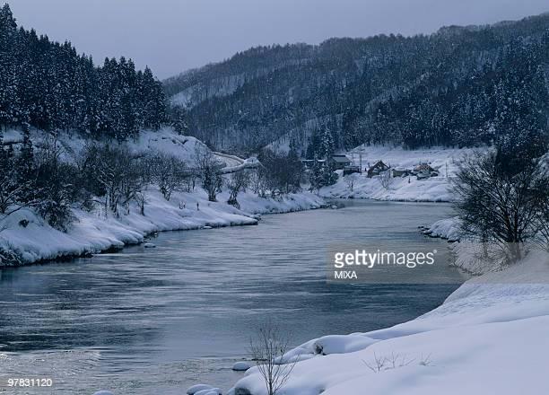 Chikuma River, Iiyama, Nagano, Japan